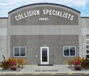 collision specialists auto body repair facility